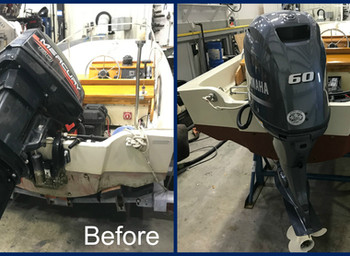 15' BOSTON WHALER REPOWER WITH F60 YAMAHA