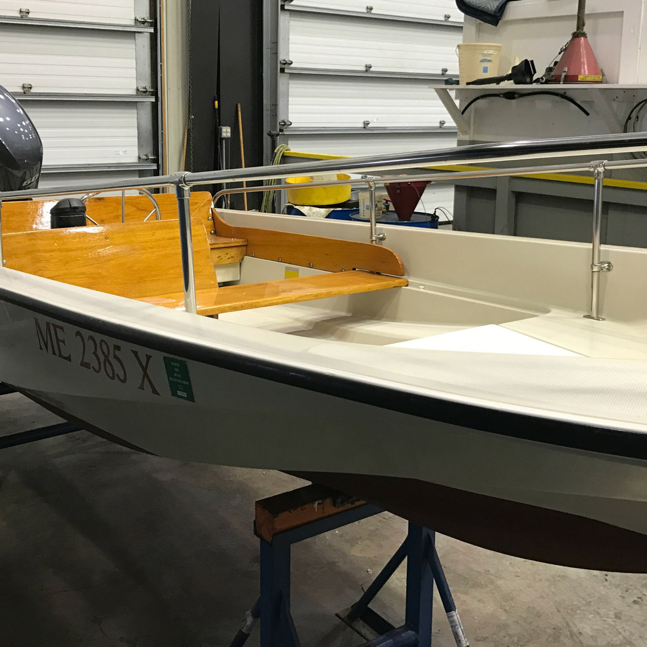 Boston Whaler Paint and Wax