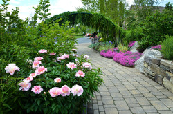Lerner Garden Entrance with Peonies