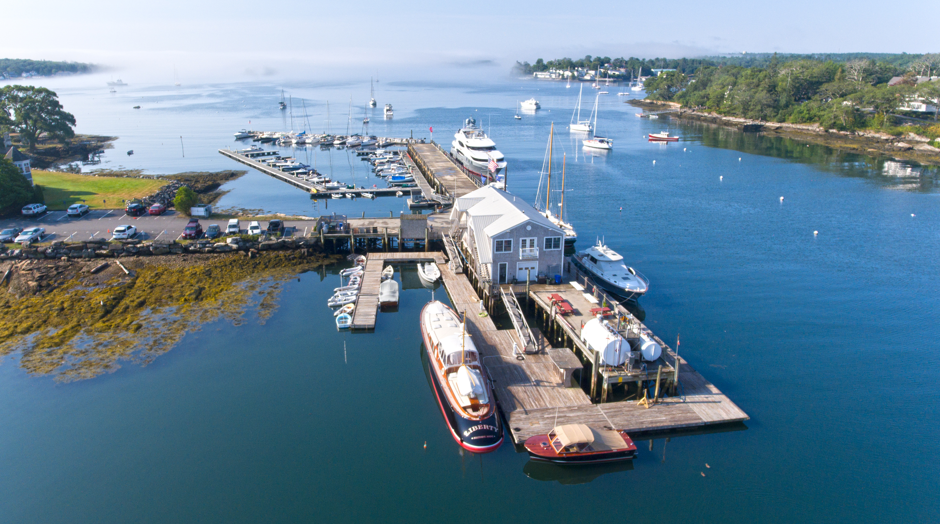 Aerial Marina Shot Boothbay Harbor