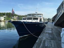 Transient dockage Maine coast