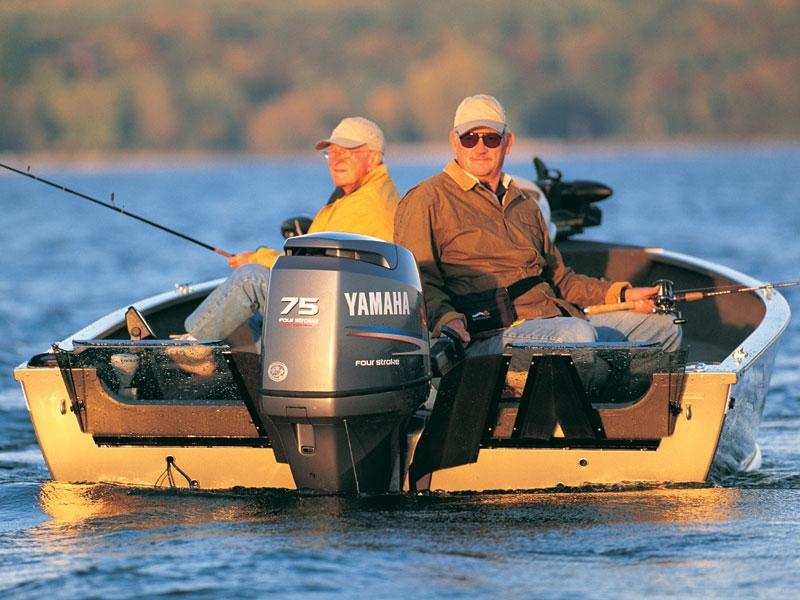 Four Stroke Yamaha on Fishing Boat