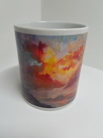 'Alizarin Peaks' Mug