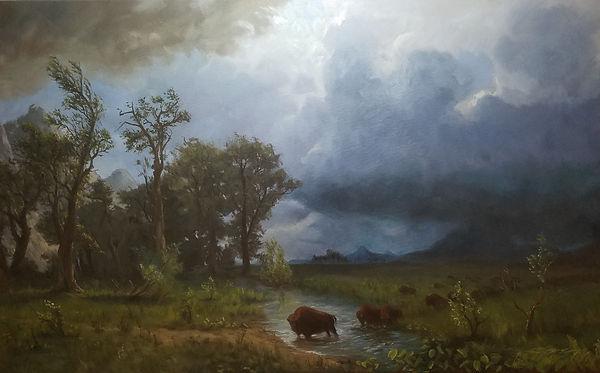 Bierstadt Buffalo