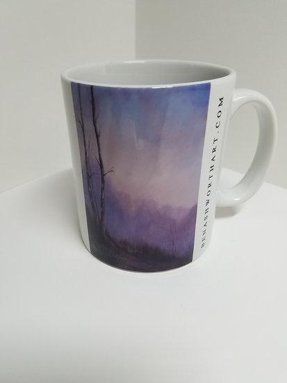 'Birch Trees at Dawn' Mug