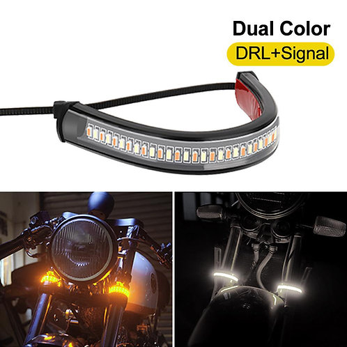 Universal LED Motorcycle Flasher Ring Fork Strip  Flashing blinker