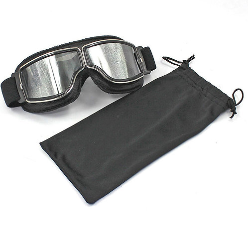 Motorcycle Retro Goggles Glasses For Harley Helmet Aviator