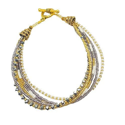 Crystal Bead Bracelet | Lavender