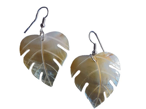 Mother of Pearl Palm Earrings