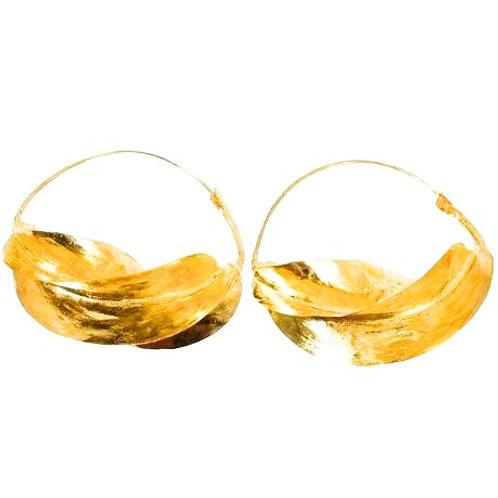 Fulani Earrings | Gold Brass