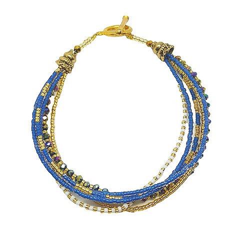Crystal Bead Bracelet | Blue