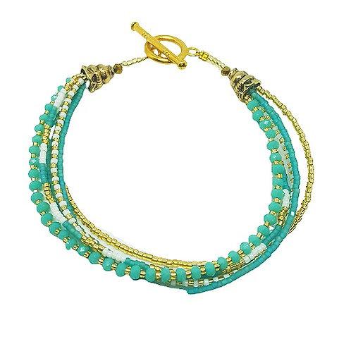 Crystal Bead Bracelet | Turquoise