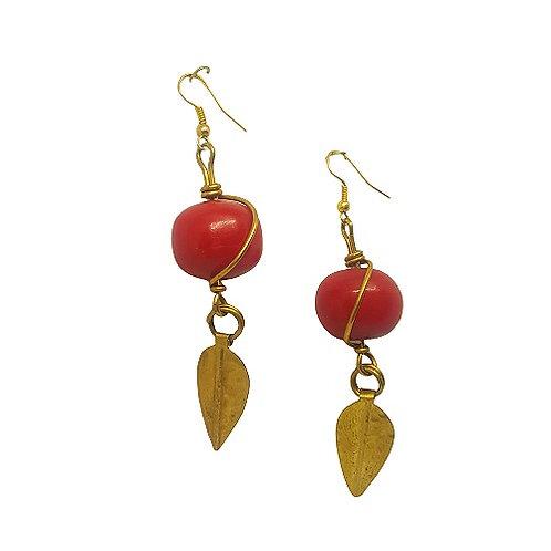 Brass   Copal Earrings