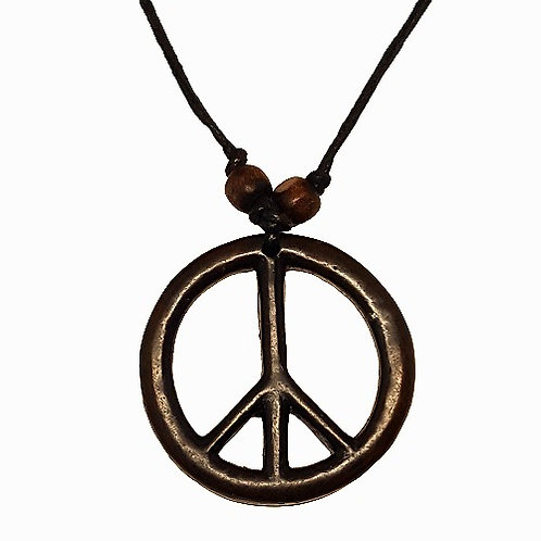 Peace Symbol Necklace | Brown