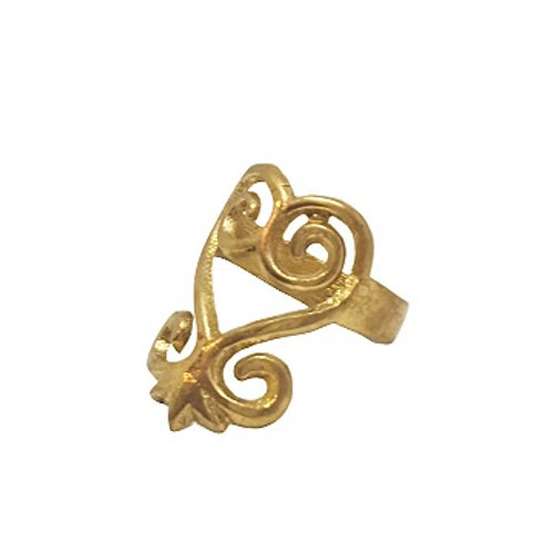 Brass Sankofa Ring