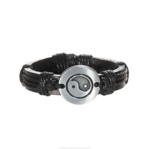 Leather Yin Yang Bracelet