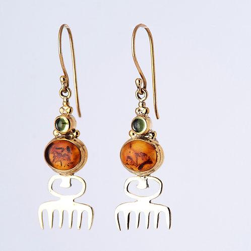 Duafe 2 Stone Earrings