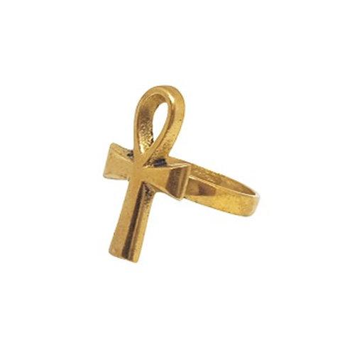 Brass Ankh Ring