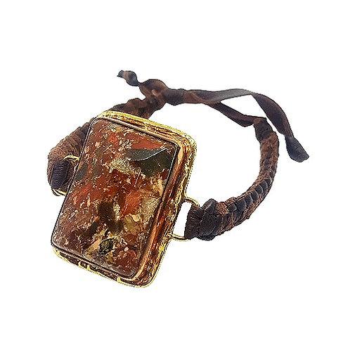 Jasper | Bronze Bracelet