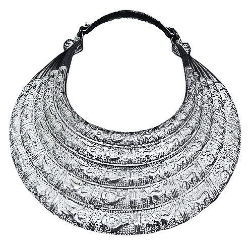 5 Layer Tibetan Silver Necklace