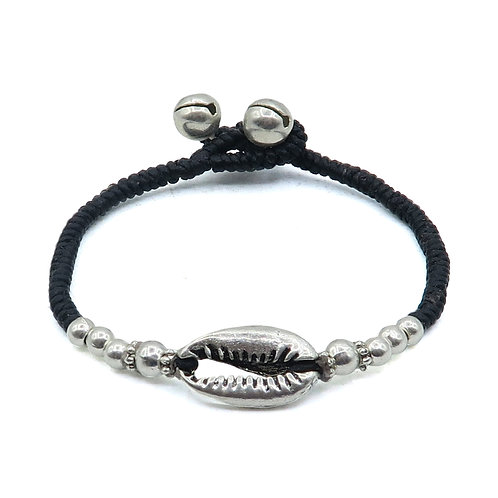 Silver Cowrie Bracelet