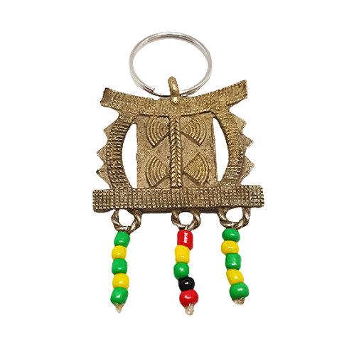 Bronze Keychain | Ashanti Stool