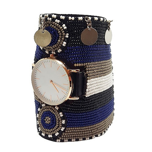 Kenyan Beaded Watch Cuff