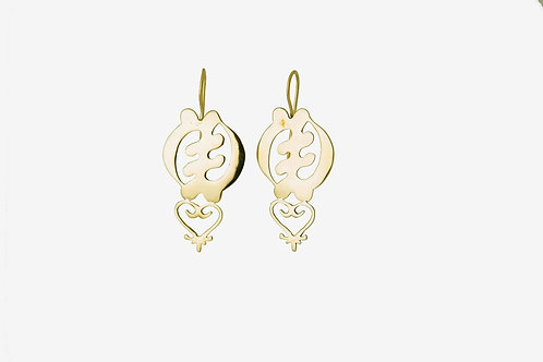 Large Gye Sankofa Earrings