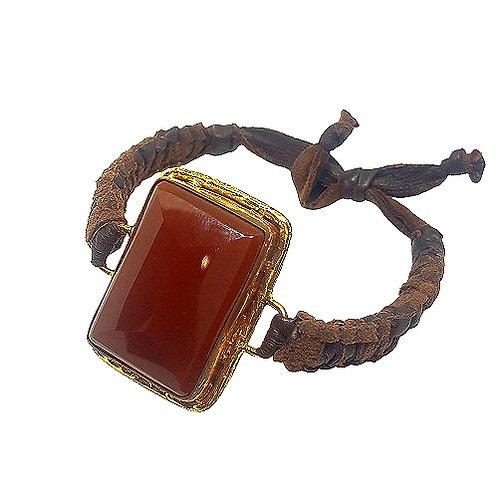 Carnelian | Bronze Bracelet