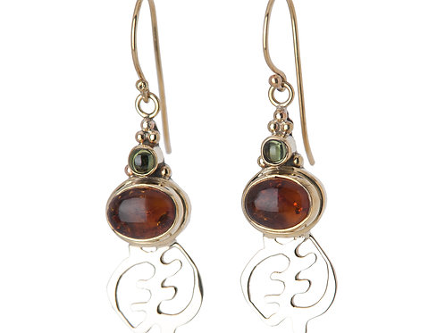 Medium Gye 2 Stone Earrings
