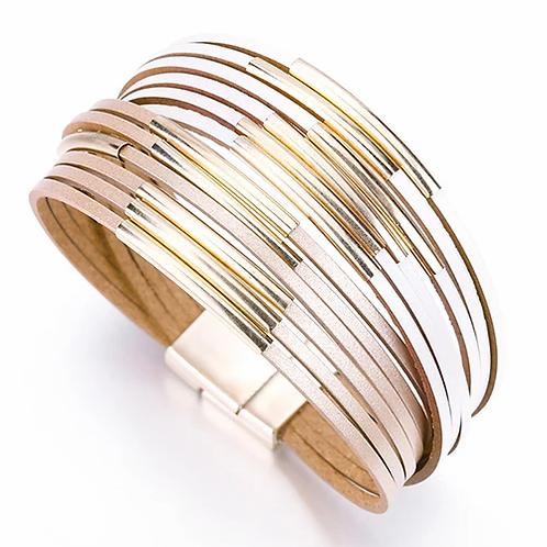 Multi Strand Bracelet | Brown