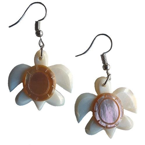 Mother of Pearl Turtle Earrings