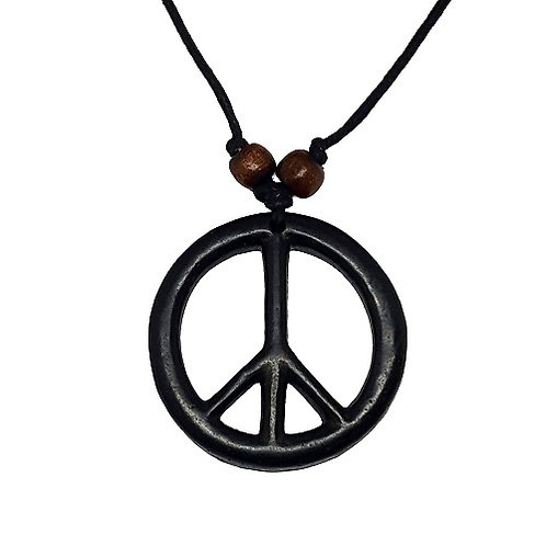 Peace Symbol Necklace | Black