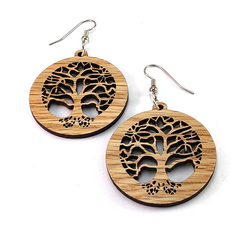 Tree of Life | Wood Earrings