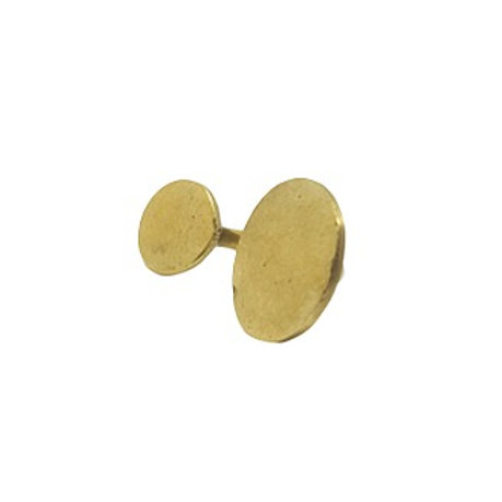 Brass Double Circle Ring