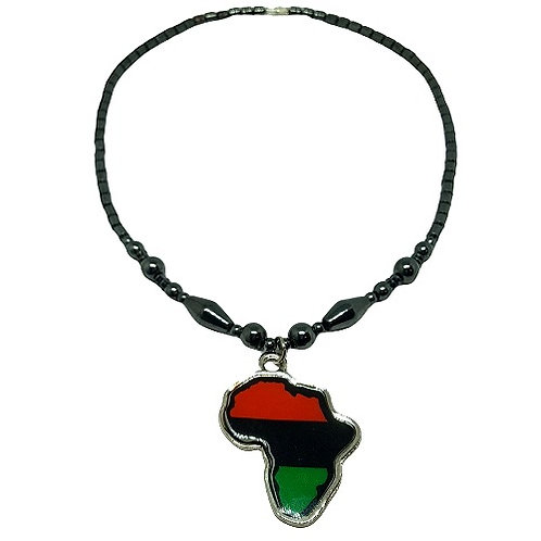 Africa Pendant | Hematite Necklace