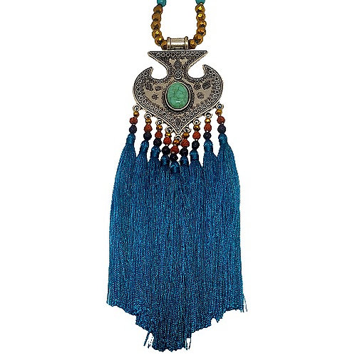 Moroccan Fringe Necklace |Turquoise