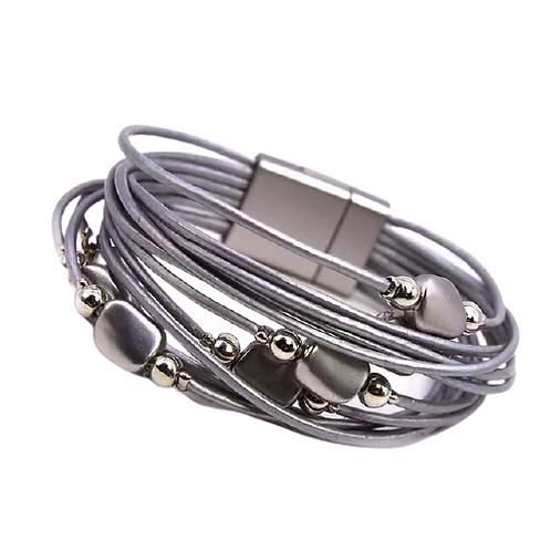 Multi Strand Bracelet   Silver