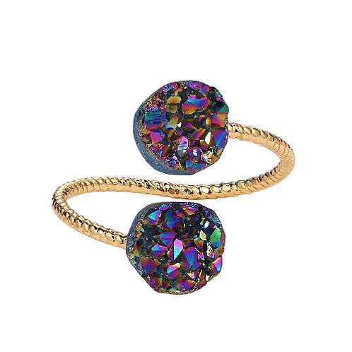 Druzy Opal Stone Ring