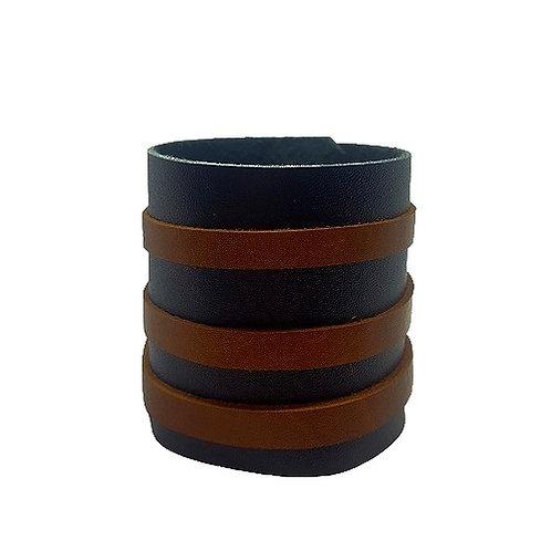 2 Tone Leather Cuff