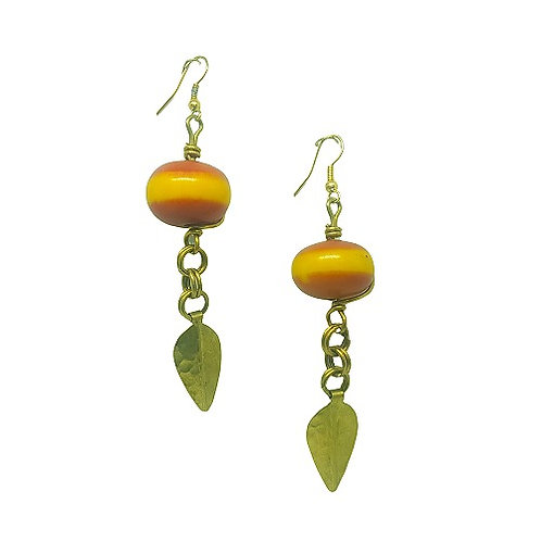 Brass | Copal Earrings