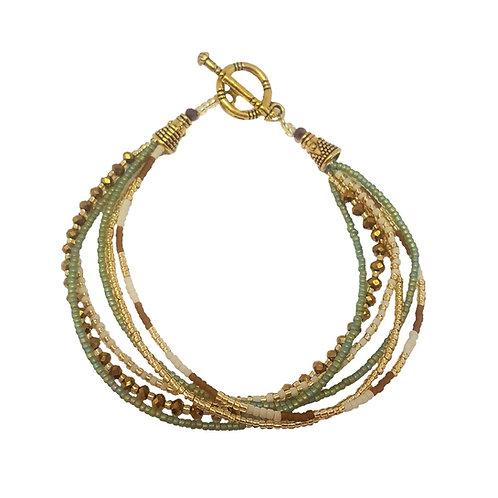 Crystal Bead Bracelet   Green