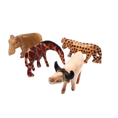 Wooden Safari Animal Figurine