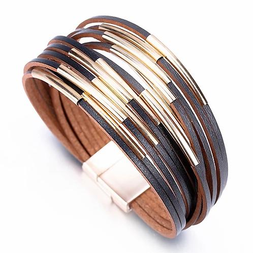 Multi Strand Bracelet | Black