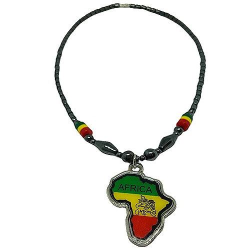 Africa Pendant | Hematite Necklace