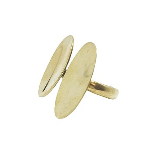 Brass Double Oval Ring