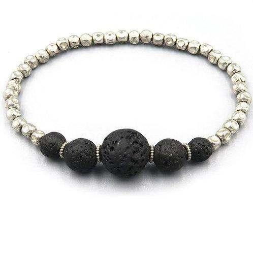 Elastic Lava Stone Bracelet