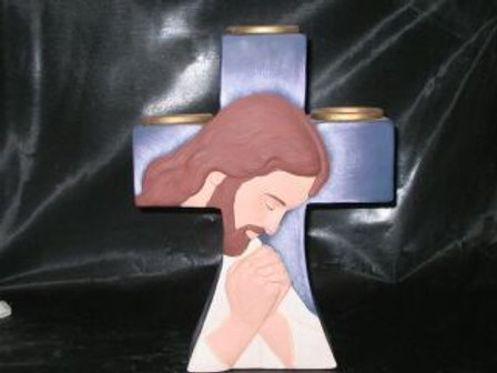 Praying Christ Votive Cross
