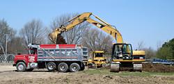loading dump truck
