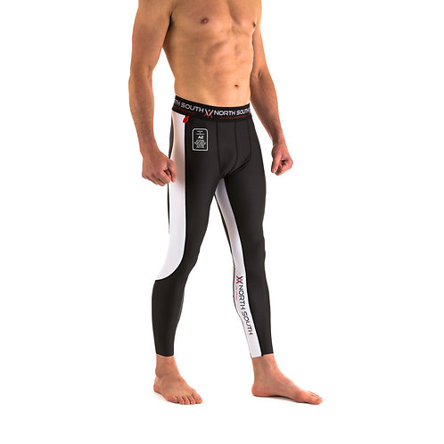 NS-201 Men Compression Spats Black and White